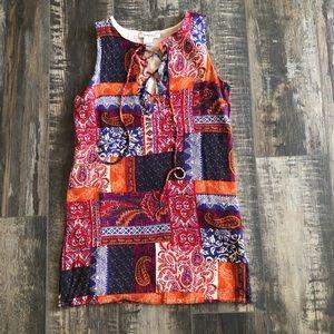 GLAMOROUS multicolored short sleeve top